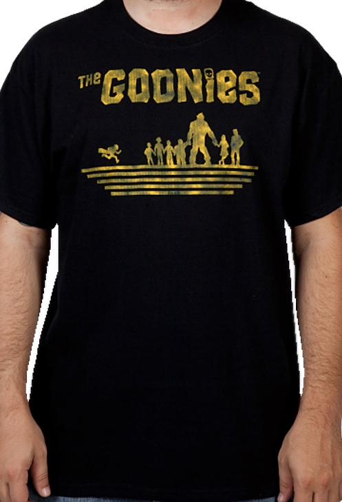 The Goonies Officially Licensed Silhouettes Black T-Shirt Small