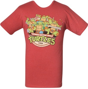 Teenage Mutant Ninja Turtles 1984 Debut Red T-Shirt Medium