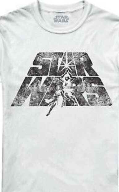 Star Wars A New Hope Poster Distressed Officially Licensed White T-Shirt Large