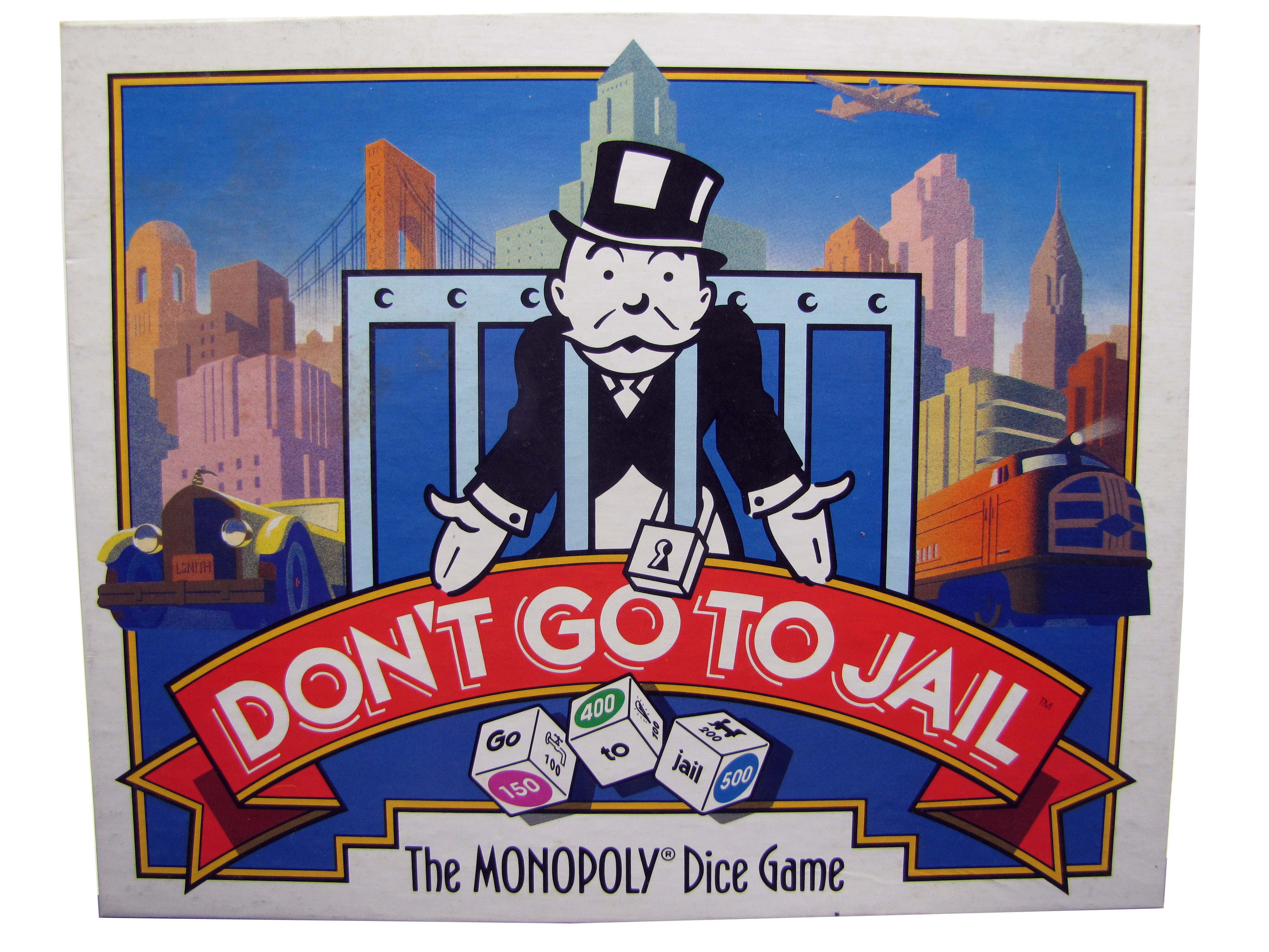 1991 Parker Brothers Don't Go to Jail Board Game Complete
