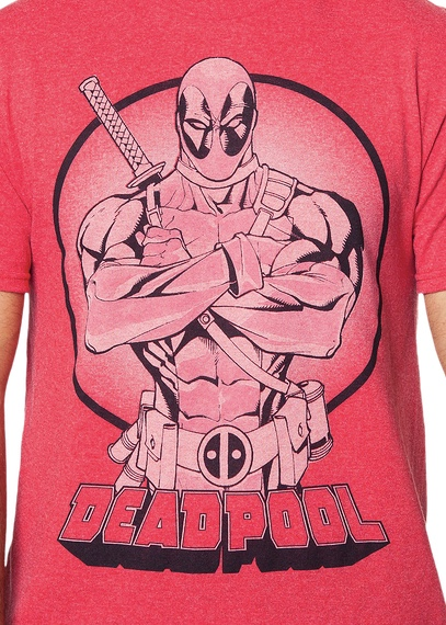 Marvel Deadpool Mercenary Officially Licensed Red T-Shirt X-Large Tall
