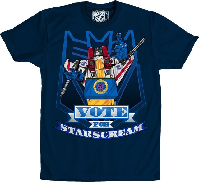 Transformers Decepticon Vote For Starscream Navy T-Shirt Large Tall