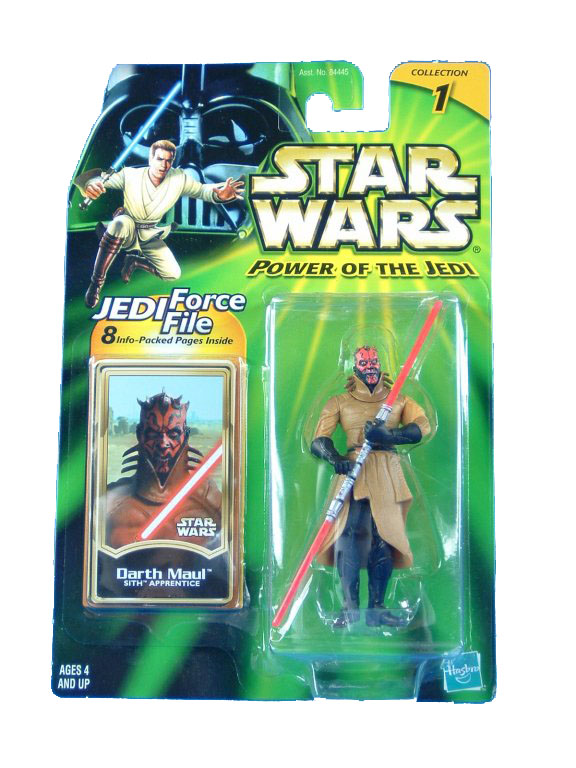 2001 Star Wars Power of the Jedi DARTH MAUL SITH APPRENTICE MOC