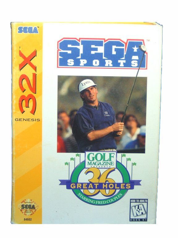 Sega Genesis 36 Great Holes Fred Couples Complete in Box - 1994