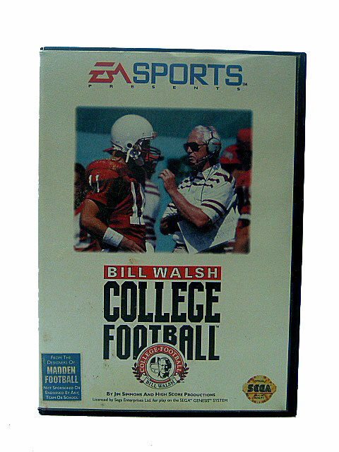 Sega Genesis Bill Walsh College Football Complete in Box - 1994