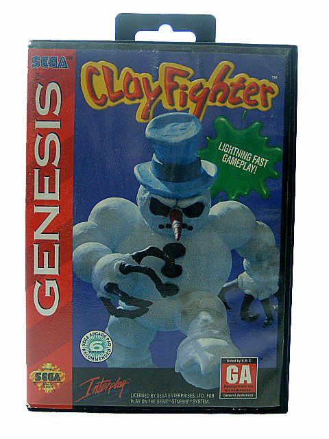 Sega Genesis Clay Fighter Complete in Box - 1994