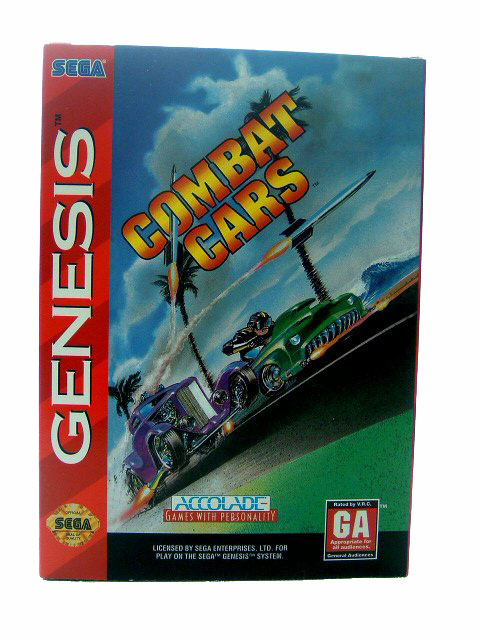 Sega Genesis Combat Cars Complete in Box - 1994
