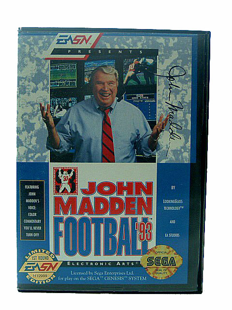 Sega Genesis John Madden Football '93 Complete in Box - 1993