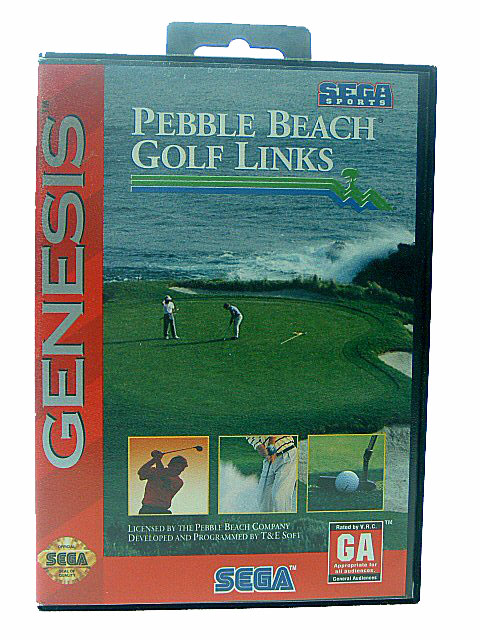 Sega Genesis Pebble Beach Golf Links Complete in Box - 1993