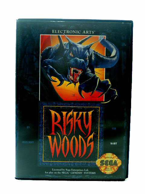 Sega Genesis Risky Woods Complete in Box - 1992