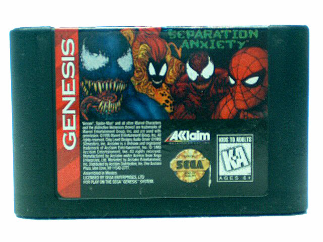 Sega Genesis Spider-Man Venom Separation Anxiety - 1995