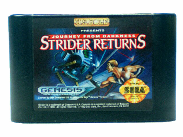 Sega Genesis Strider Returns: Journey From Darkness - 1992