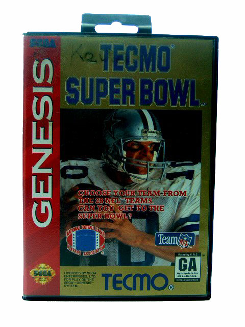 Sega Genesis Tecmo Super Bowl Complete in Box - 1993