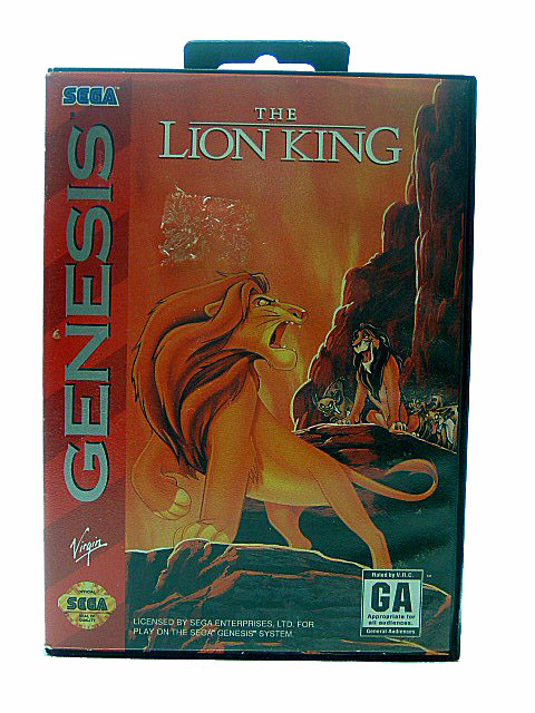 Sega Genesis The Lion King Complete in Box - 1994