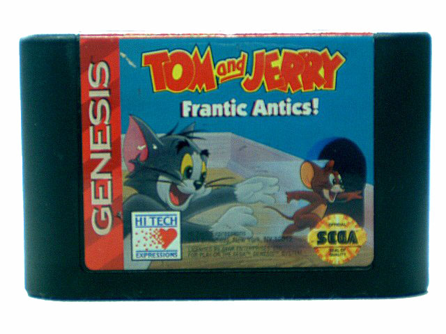 Sega Genesis Tom and Jerry: Frantic Antics - 1993