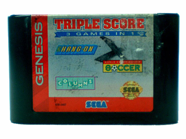 Sega Genesis Triple Score 3 Games in 1 - 1993