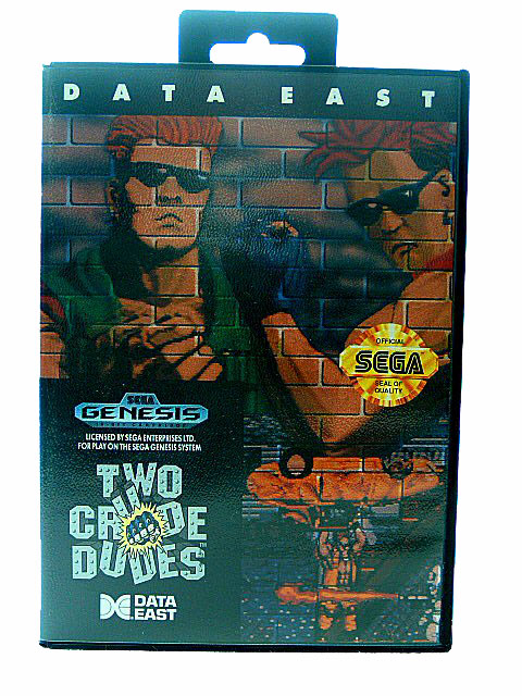 Sega Genesis Two Crude Dudes Complete in Box - 1991