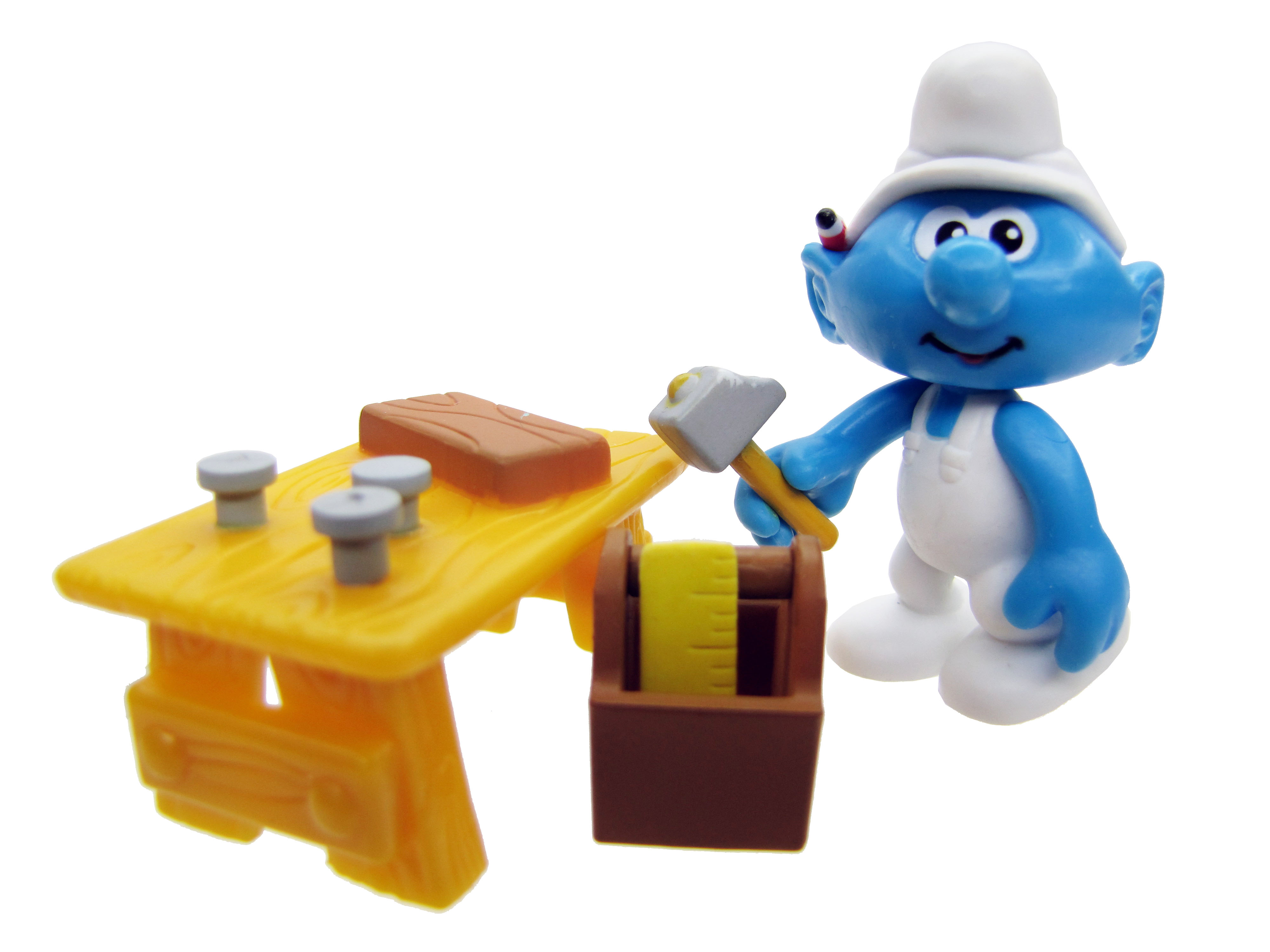 2008 The Smurfs Series 1: Handy Smurf with Tool Bench Complete