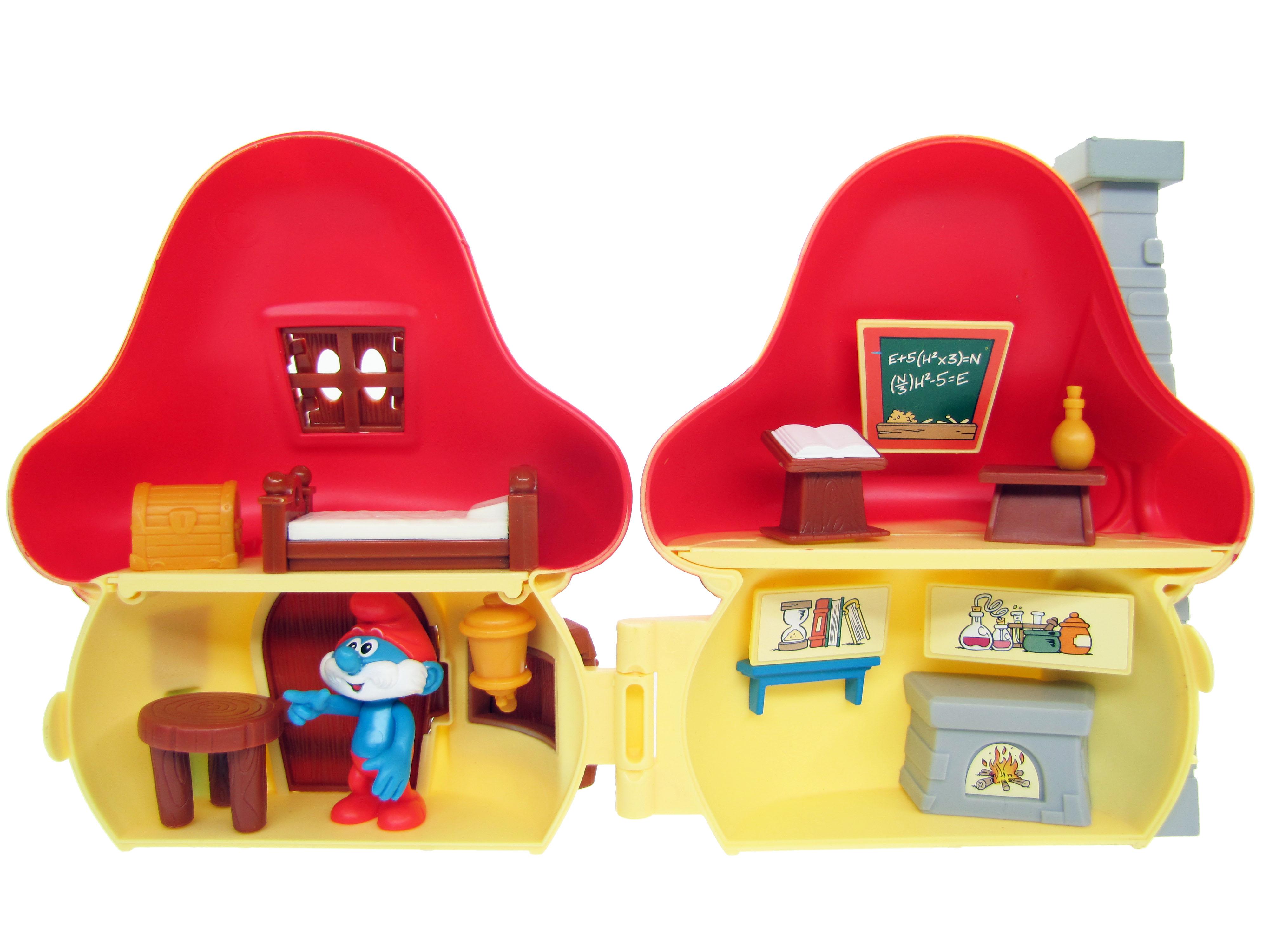 2008 The Smurfs Papa Smurf's Mushroom House Playset ...