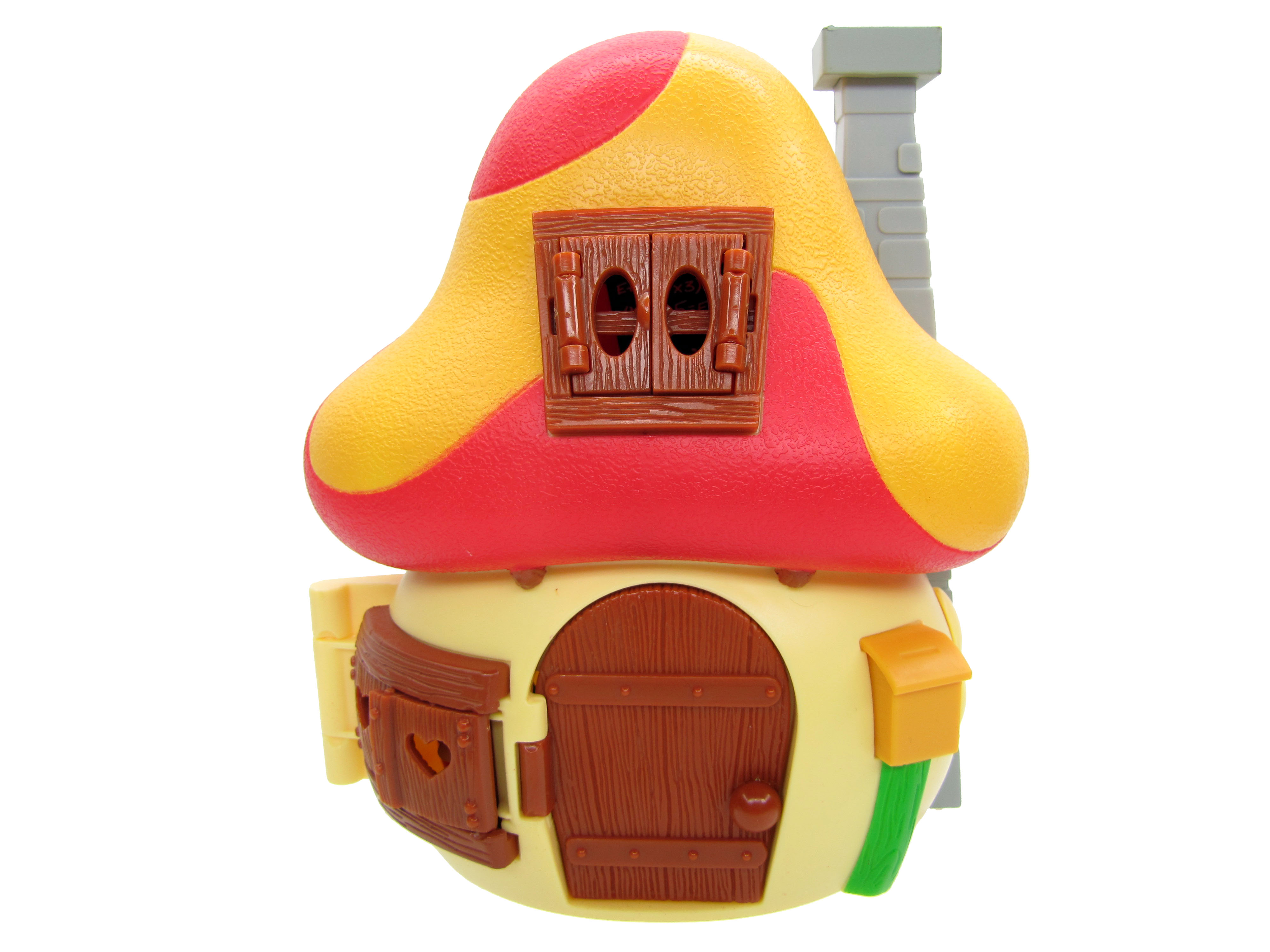2008 The Smurfs Papa Smurf's Mushroom House Playset Complete