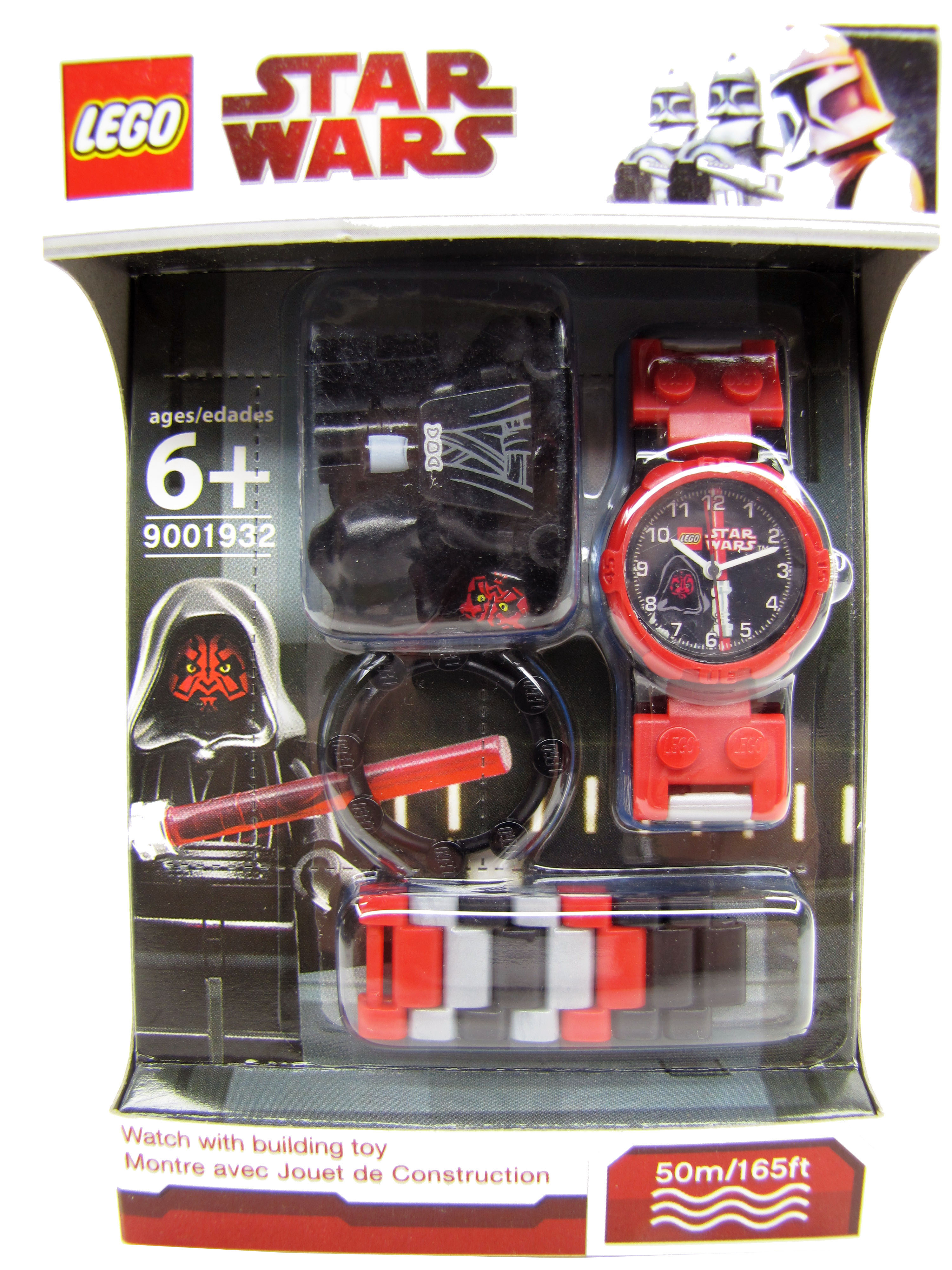 2010 Lego Star Wars Darth Maul Minifigure Watch NEW Lego Time 900193
