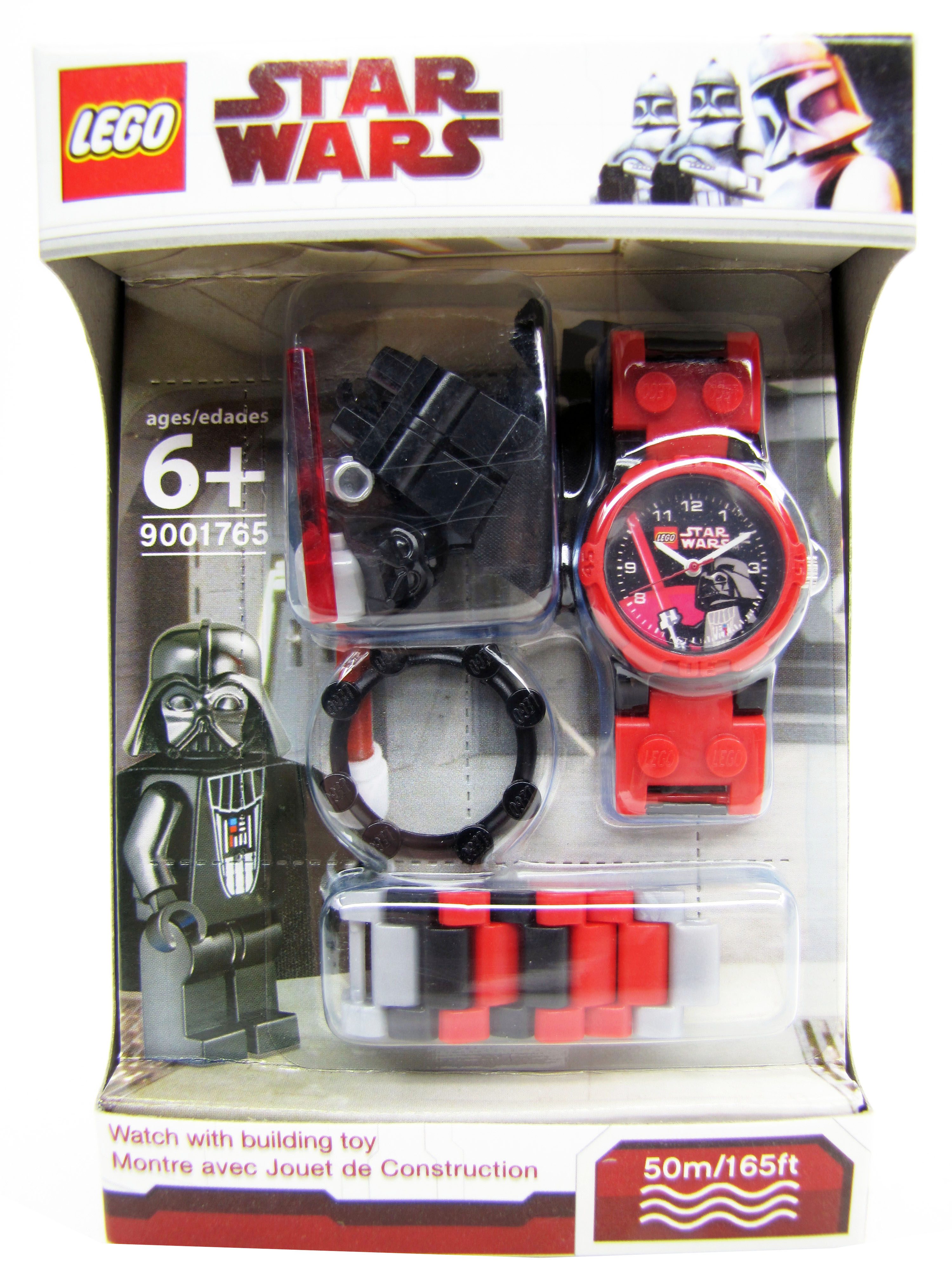 2010 Lego Star Wars Darth Vader Minifigure Watch NEW Lego Time 900175