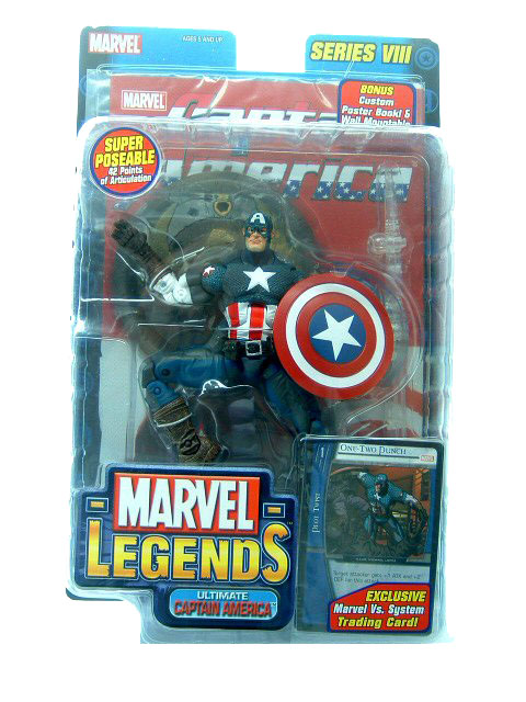Marvel Legends Series 8 Captain America Sealed Mint on Card