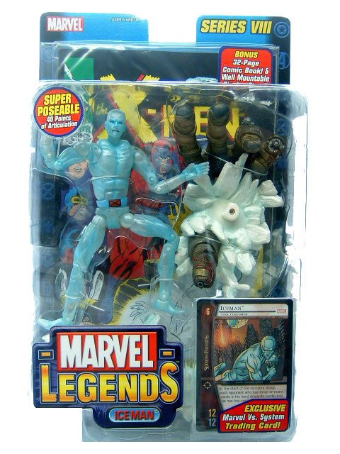 Marvel Legends Series 8 Ice Man Sealed Mint on Card