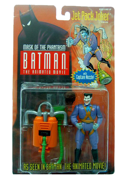 Batman The Animated Series Jet Pack Joker Mint on Card