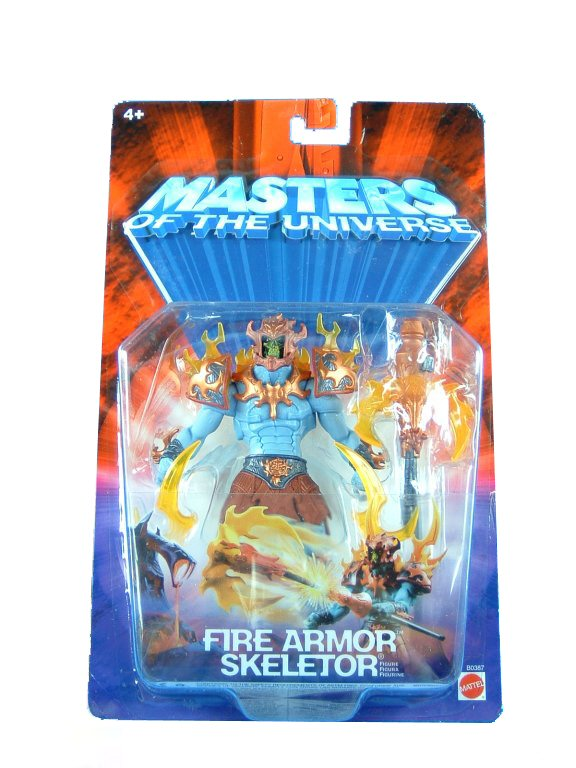 MOTU Modern Series Fire Armor Skeletor Sealed Mint on Card