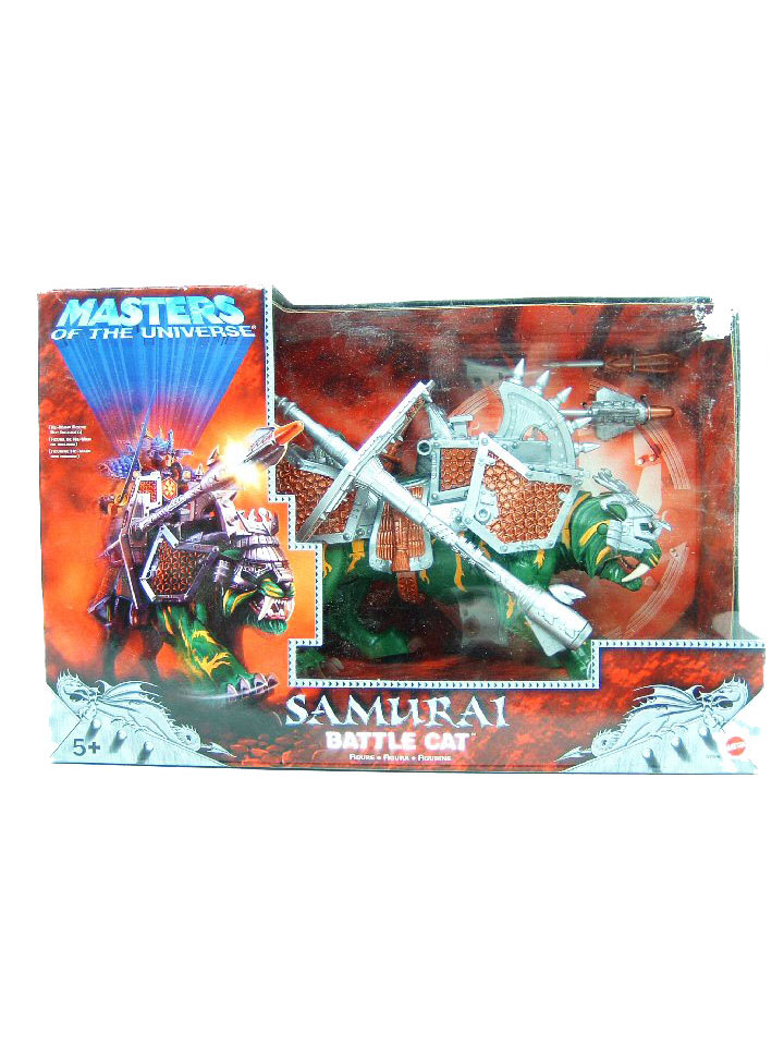 2002 Masters of the Universe Modern Series SAMURAI BATTLE CAT Sealed NEW