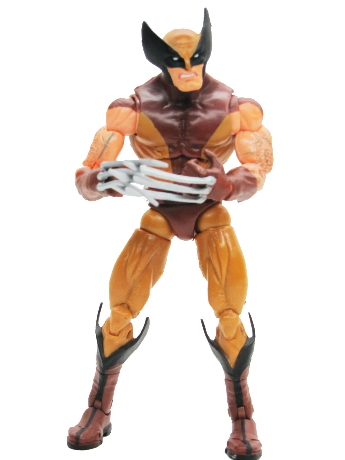 Marvel Legends Series 6 Wolverine Brown Suit Complete