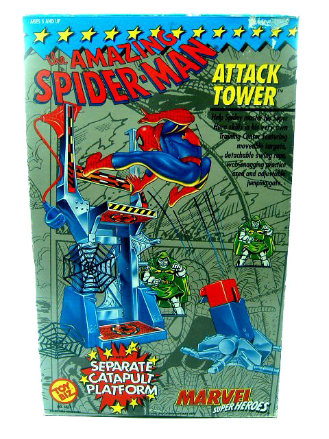 Marvel Super-Heroes Spider-Man Attack Tower Mint in Box