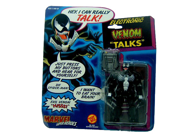 Marvel Super-Heroes Venom Talking Sealed Mint on Card