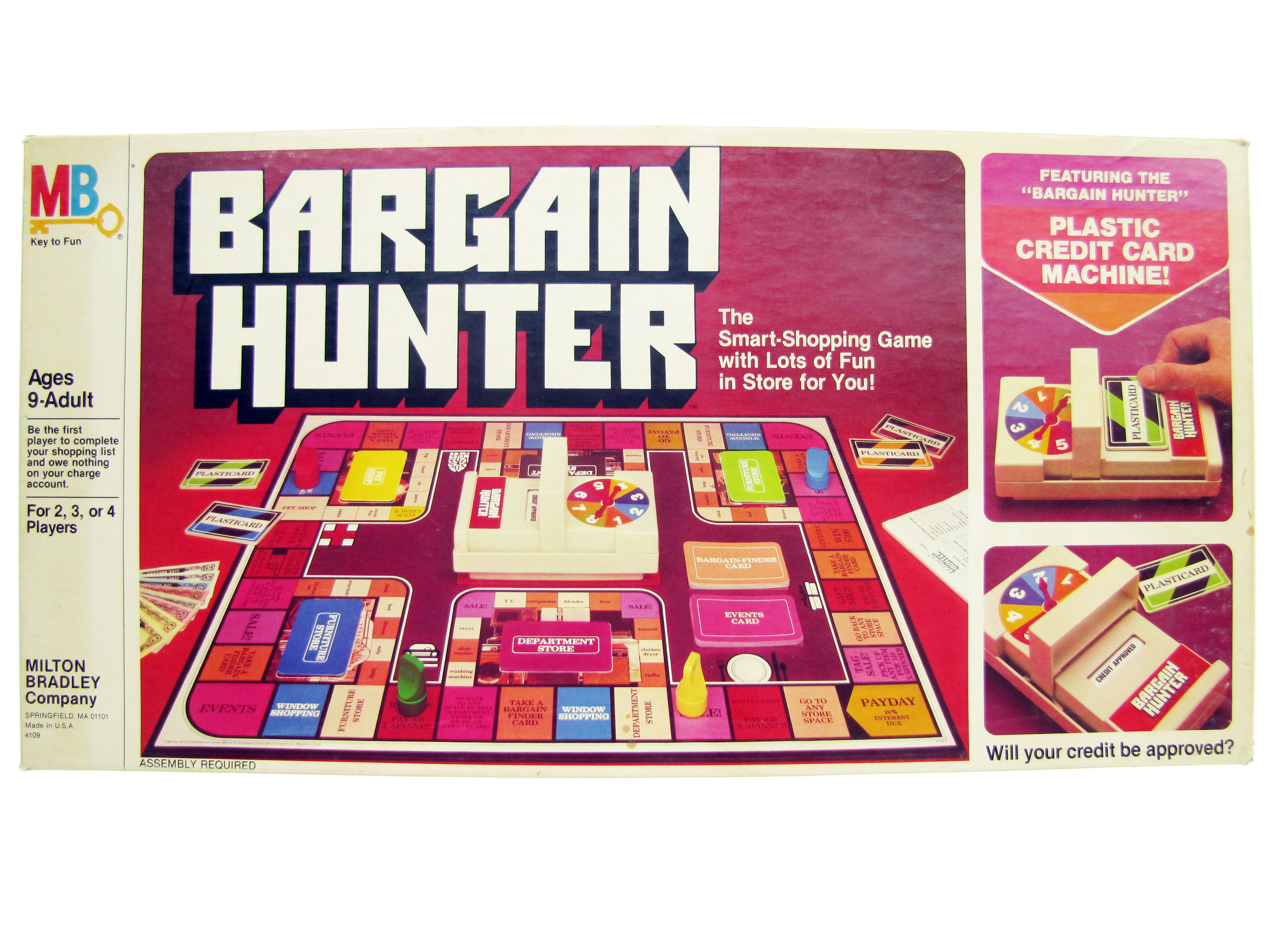 1981 Milton Bradley Bargain Hunter Board Game Complete