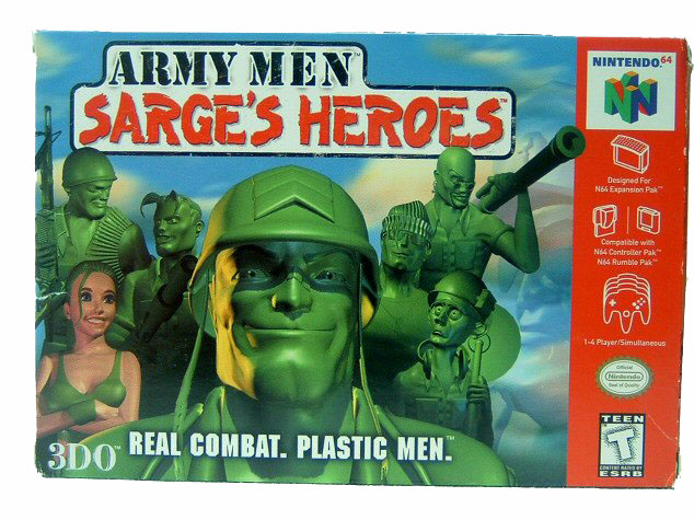 N64 Army Men: Sarge's Heroes Complete in Box - 1999