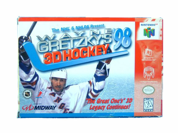 N64 Wayne Gretzky's 3D Hockey '98 Complete in Box - 1996