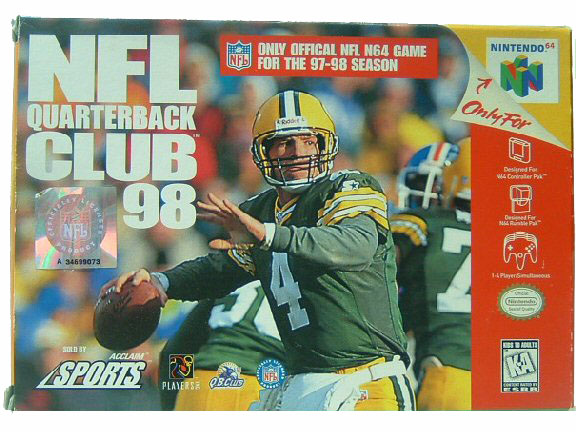 N64 NFL Quarterback Club '98 Complete in Box - 1997