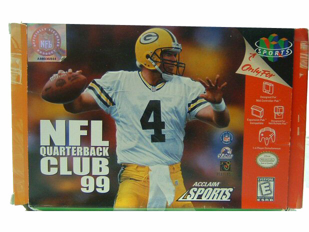 N64 NFL Quarterback Club '99 Complete in Box - 1998