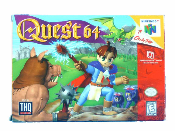 N64 Quest 64 Complete in Box - 1998
