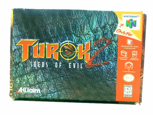 N64 Turok 2: Seeds of Evil Complete in Box - 1998
