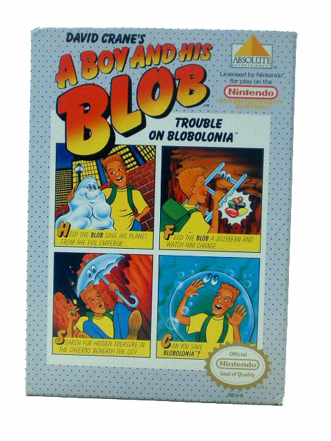 NES A Boy & His Blob Trouble on Blobolonia Complete Box - 1989