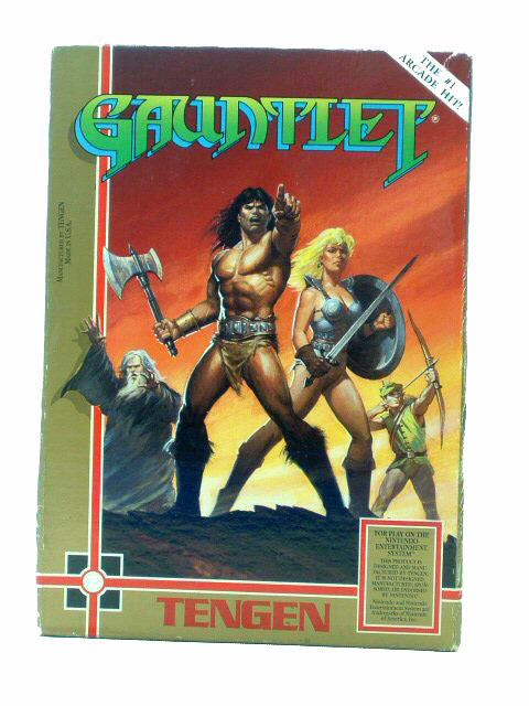 NES Gauntlet Complete with Box - 1989