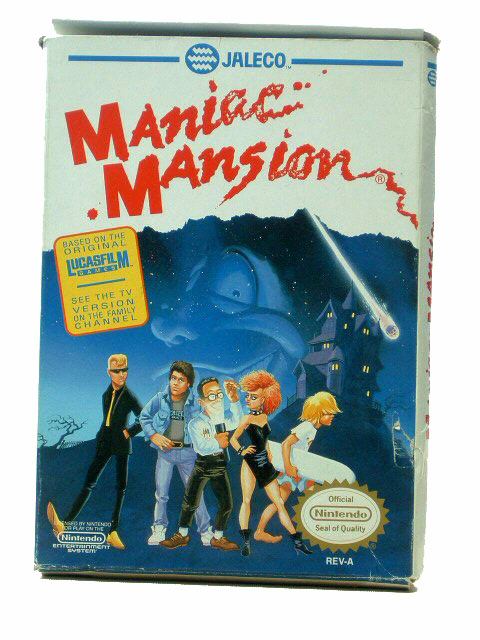 NES Maniac Mansion Complete with Box - 1990
