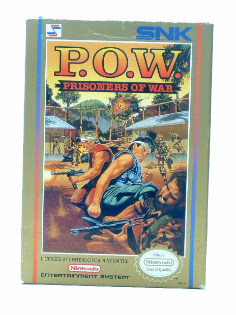 NES P.O.W.: Prisoners of War Complete with Box - 1989