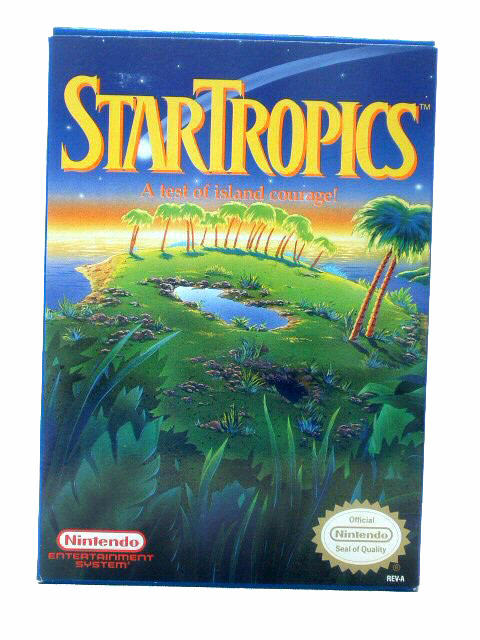 NES StarTropics Complete with Box - 1990