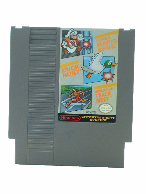NES Super Mario Bros - Duck Hunt - World Class Track Meet - 1988