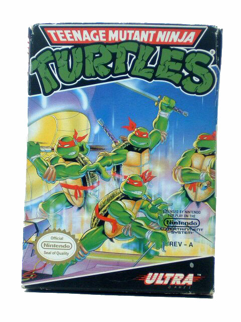 NES Teenage Mutant Ninja Turtles Complete in Box - 1989