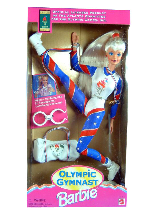 1995 Olymic Gymnast Barbie Blonde Sealed NEW