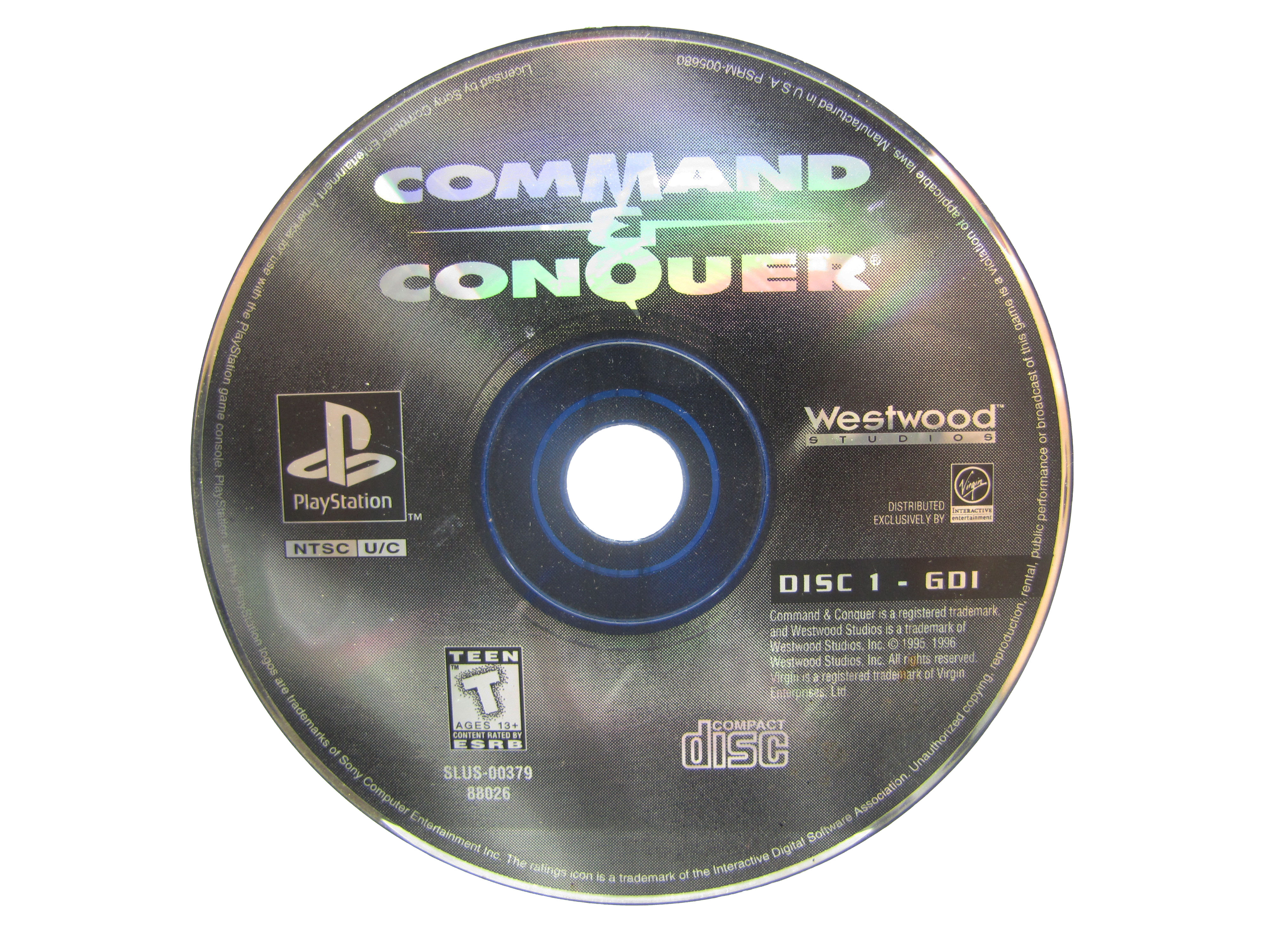 PS1 Command & Conquer Disc 1 Disc Only - 1995